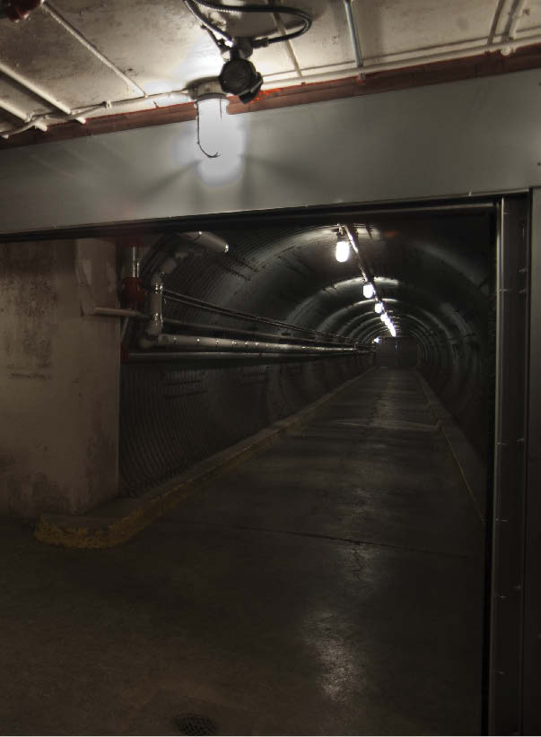 Inside the upgraded blast tunnel of the Diefenbunker.  Photograph by Brian Robertson.