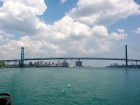 Ambassador Bridge between Windsor, Ontario and Detroit, Michigan. Photo by U.S. Enironmental Protection Agency.