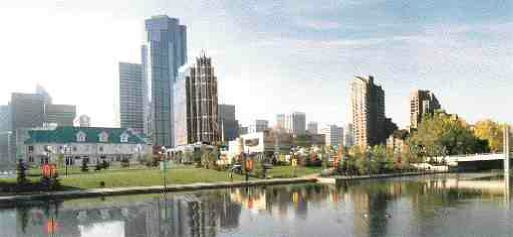Artist's rendering of Millennium Tower in the centre of Calgary.