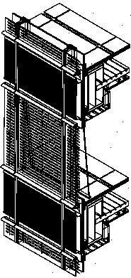 Double wall construction of the Commerzbank, allowing natural ventilation. Courtesy Norman Foster & Associates.