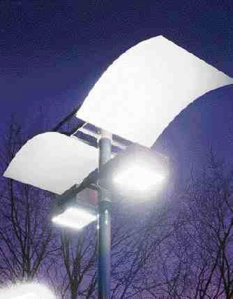 Exterior electrodeless fluorescent lamp.