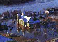 Courtesy Winnipeg Free PressFlooding in Ste. Agathe, one of the towns that felt they had been sacrificed to save Winnipeg.