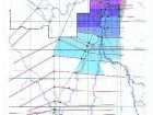 """Above: extent of flooding upstream of Winnipeg in 1997 flood. Right: area flooded in excess of """"natural"""" water levels."""