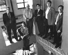 Above l. to r.: Geoffrey Glotman, Jim DesRoches, Martin Glotman, Mel O'Keeffe, Robert Simpson, Michael O'Keeffe