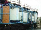 Above: mobile prototype unit at 20 per cent scale of municipal incinerator