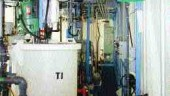 Above left: inside the unit. Above right: precipitated metals captured by the system can be recycled.