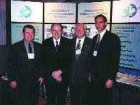 From left: ACEC Chair-elect Dave Chalcroft, Deputy Prime Minister Herb Gray, PC, MP, ACEC Chair John M. Boyd and ACEC President Tim Page at ACEC's 1999 Government Relations Days.