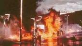 Service station fire