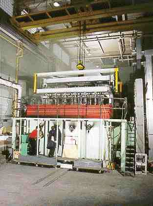 Furnace for testing floor assemblies at the NRC's Institute for Construction in Ottawa.
