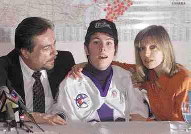 Joe Wamback with son Jonathan and wife Lozanne.National Post
