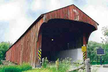 Restored 1881 covered bridge near Elmira, Ontario.