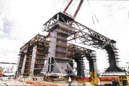 Construction of leg columns.