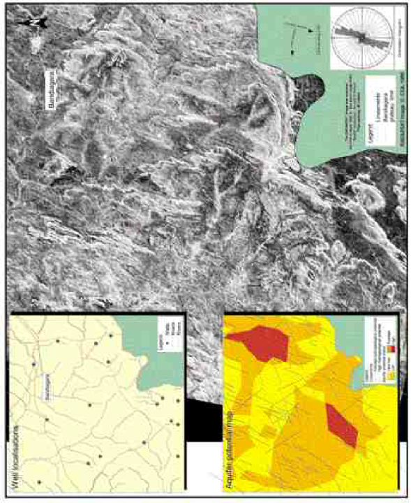 Mapping of hydrogeological lineaments in the Bandiagara area of Mali.