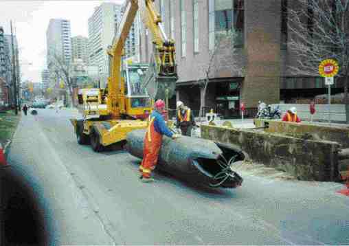 Test pipe was inserted after the host pipe was cleaned.