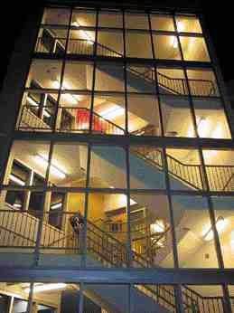 Well lit stairwells add to the user's sense of security.