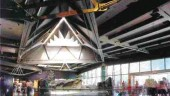 Roger BrooksThe pyramid roof in the Vancouver Aquarium expansion is a recent project where the engineering and construction went hand in hand.