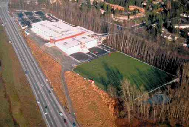 Burnaby Mountain Secondary School, B.C. Stantec Consultants did the geothermal, mechanical and electrical design.