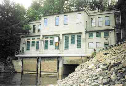 The historic building is preserved on a river favoured by the public for whitewater rafting.