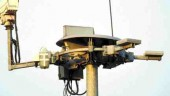 Pole-mounted closed-circuit camera.