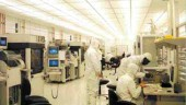 Inside the clean room laboratory.