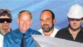 Award of Merit: Hydroconsult EN3, Calgary. Left to right: Jacky Brown, Vicki Cook, Wim Veldman, Bart Coombs, Gustavo Roda, Monica Caine