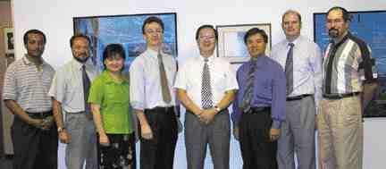 Award of Excellence: Delcan Corporation, Toronto. Left to right: Abebe Manyazewal, Radu Rucareanu, Kate Wong, Perry Craig, Joe Lam, Rex Lee, Thomas O'Dell, Richard Chylinski