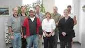 Award of Merit: UMA Engineering, Lethbridge, Alberta. Left to right: Dennis Miller, Dale Viergutz, Gerry Roth, Irv Martens, Diane Munroe, Dale Miller, Debbie Brummelhuis, Jean Paul Fournier
