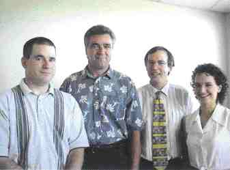 Award of Excellence: Lassing Dibben Consulting Engineers, Trenton and UMA Constructors, Mississauga, Ontario. Above left to right: Thomas Coates, Rod MacKenzie, Harold Dibben, Julie Hietala. Top right: Mike Whitby. Right: Malcolm MacKay