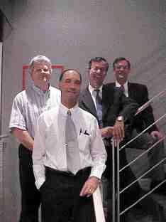 Award of Excellence: Yolles and Thurber Engineering, Toronto. Left to right: David Stevenson, Michael Meschino, Nabil El-Khazan, Paolo Branco