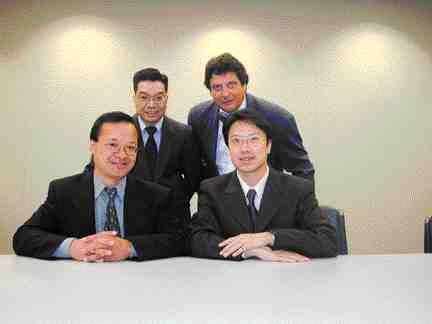 Award of Merit: Stantec Consulting, Vancouver. Back row: Joe Tai, Dejan Radoicic. Front row: Jim Jay, Jimmy Ng