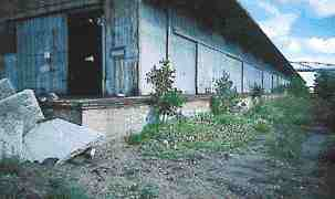 The 1950s railway building in its neglected original state.