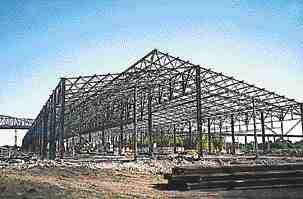 Work proceeds on the structure.