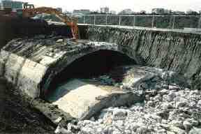 "Edmonton tunnel known as the ""Rathole."""