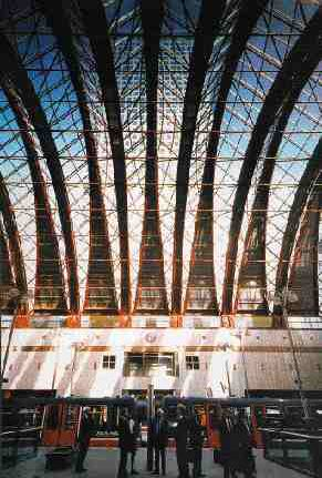 Docklands light rail station, London