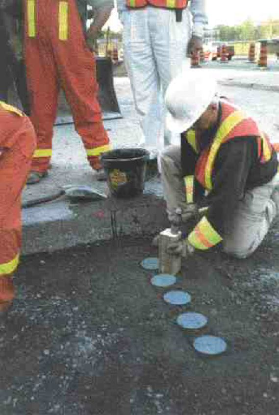 NRC/IRCSensors being installed for research on a partially restored utility cut in the city of Ottawa.