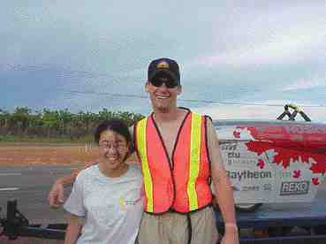 Driver Kumi Yamamoto and Greg Thompson
