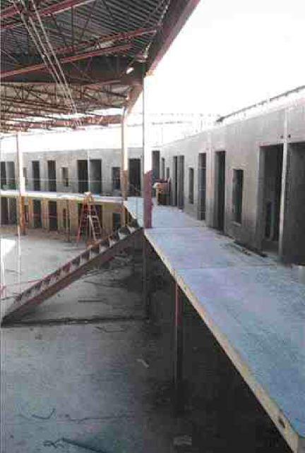 Cell blocks under construction.