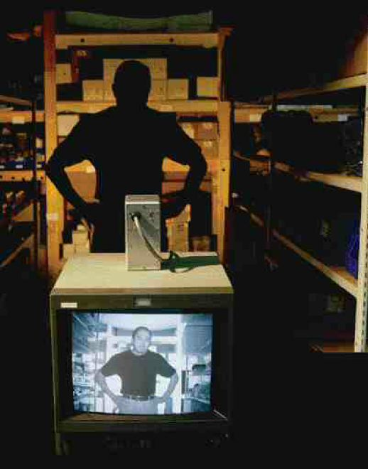Jack Gin, P.Eng., the founder and president of Extreme CCTV of Burnaby, B.C., demonstrates how infrared technology can identify intruders even in the dark. The camera being used is their Integrated Day Night EX11DXL model.
