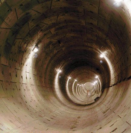 One of the finished 5.2-diameter tunnels.