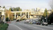 Guideway crosses over the Kensington overpass in Burnaby.