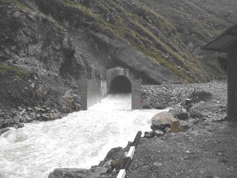 Diversion tunnel.