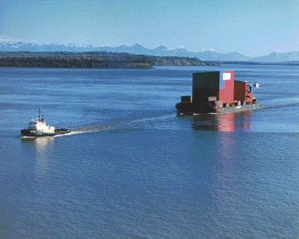 Giant modules were shipped from Anchorage and then transferred overland on special transporters with 200 wheels.