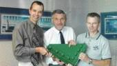 SCHREYER AWARD. Lions' Gate Bridge Deck replacement, Buckland & Taylor. Darryl Matson, Peter Buckland, David Queen.