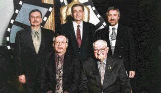 AWARD OF MERIT. McLean Bridge, AMEC/CWA. (back row) Dwayne Berlando, Clarence Schile, David Woodall, (front row) Blair Peacock, Cecil Weist.