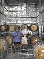 John Bringas, P.Eng. (at right) with master winemaker Rosario Trimboli in Australia.