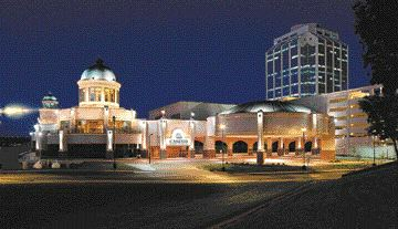 Casino Nova Scotia: View at night from the city side.