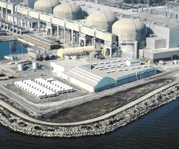 Aerial view of nuclear plant. The retrofit of one unit has involved 700 engineers and support staff, plus 1,000 OPG employees.