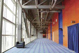 Daylit hallway.