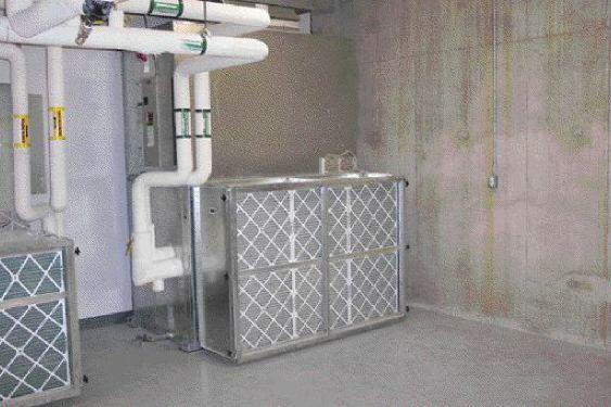 Mechanical room equipment on each floor.