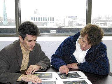 Louis Michel Malouin (left) and Dr. Francois McKenty.